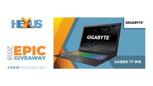 Конкурс HEXUS.net Epic Giveaway 2018 Day 32: Win a Gigabyte Sabre 17-W8 laptop