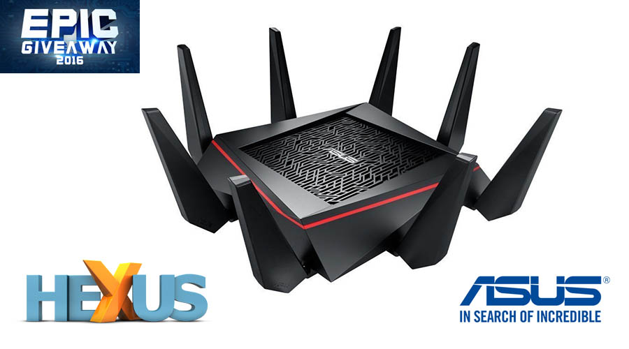 Конкурс HEXUS.net Epic Giveaway 2016 Day 23: Win an Asus RT-AC5300