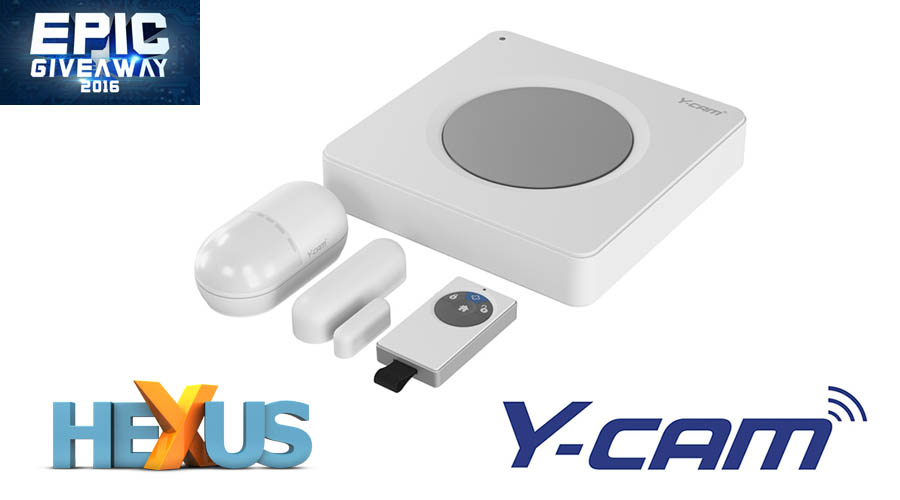 Конкурс HEXUS.net Epic Giveaway 2016 Day 9: Win a Y-cam Protect Alarm System