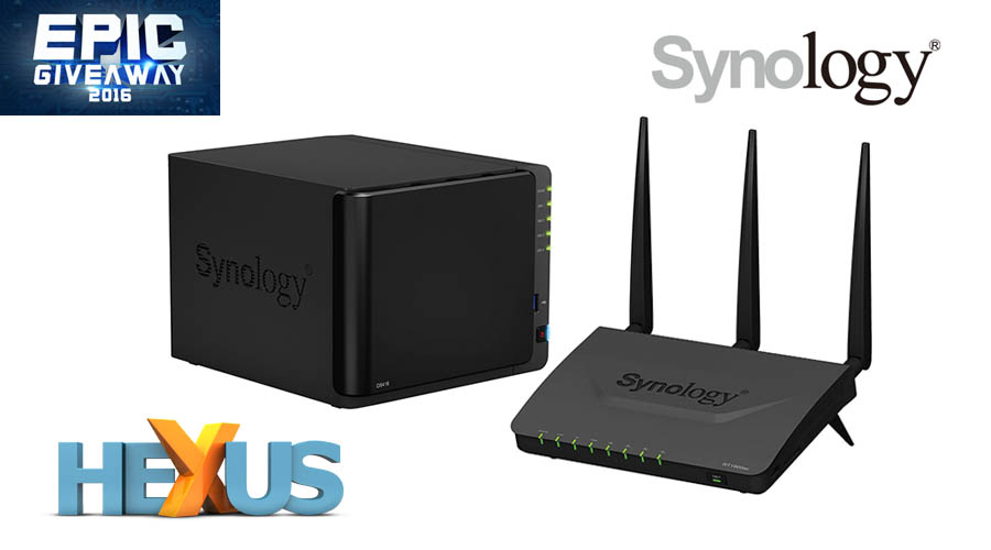 Конкурс HEXUS.net Epic Giveaway 2016 Day 10: Win a Synology NAS and Router Bundle