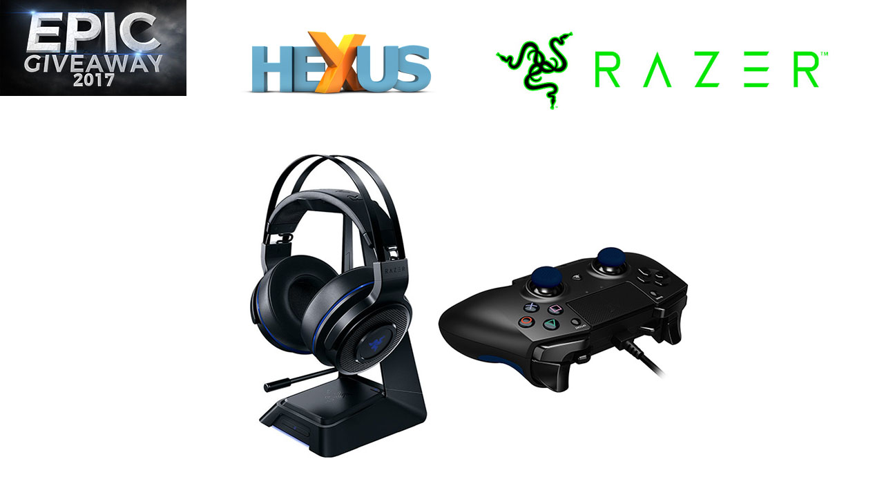 Конкурс HEXUS.net Epic Giveaway 2017 Day 10: Win a Razer PS4 gaming bundle