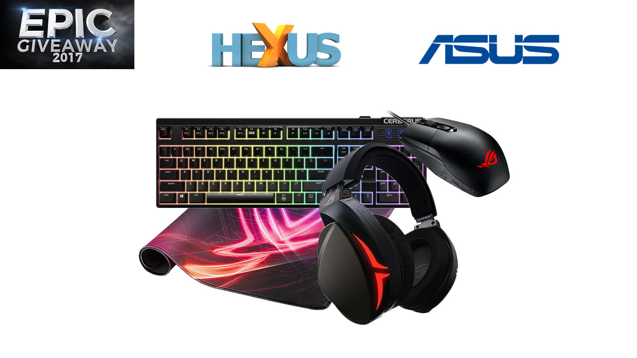 Конкурс HEXUS.net Epic Giveaway 2017 Day 8: Win an Asus gaming peripheral bundle