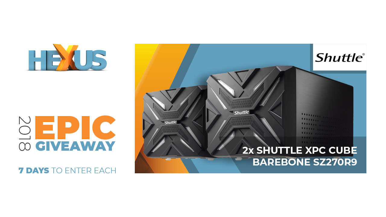 Конкурс HEXUS.net Epic Giveaway 2018 Day 12: Win a Shuttle XPC Cube SZ270R9