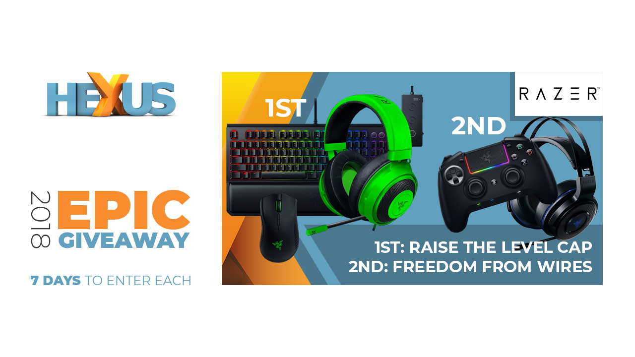 Конкурс HEXUS.net Epic Giveaway 2018 Day 13: Win one of two Razer peripheral bundles