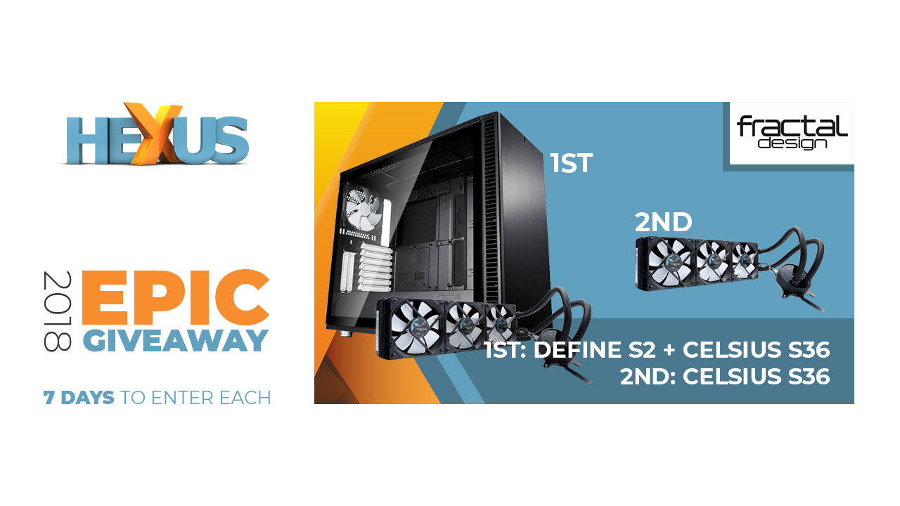 Конкурс HEXUS.net Epic Giveaway 2018 Day 28: Win a Fractal Design chassis and cooler