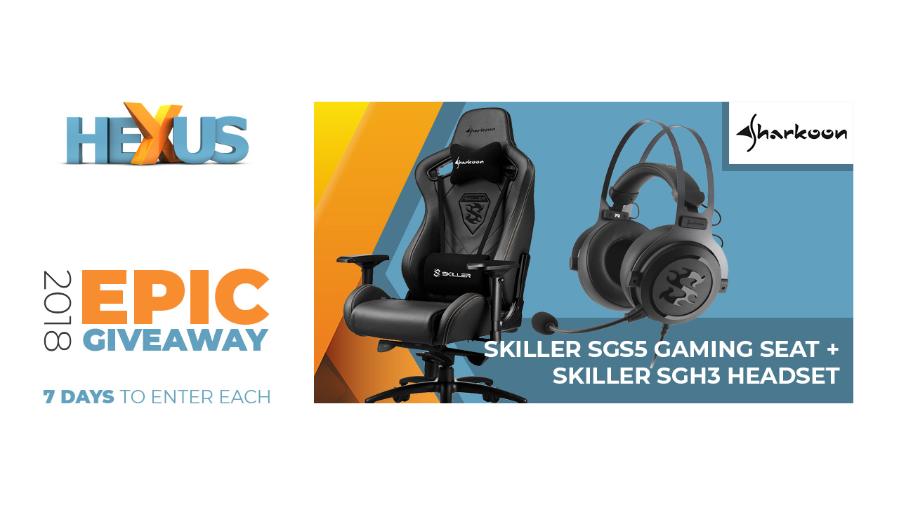 Конкурс HEXUS.net Epic Giveaway 2018 Day 29: Win a Sharkoon headset and chair