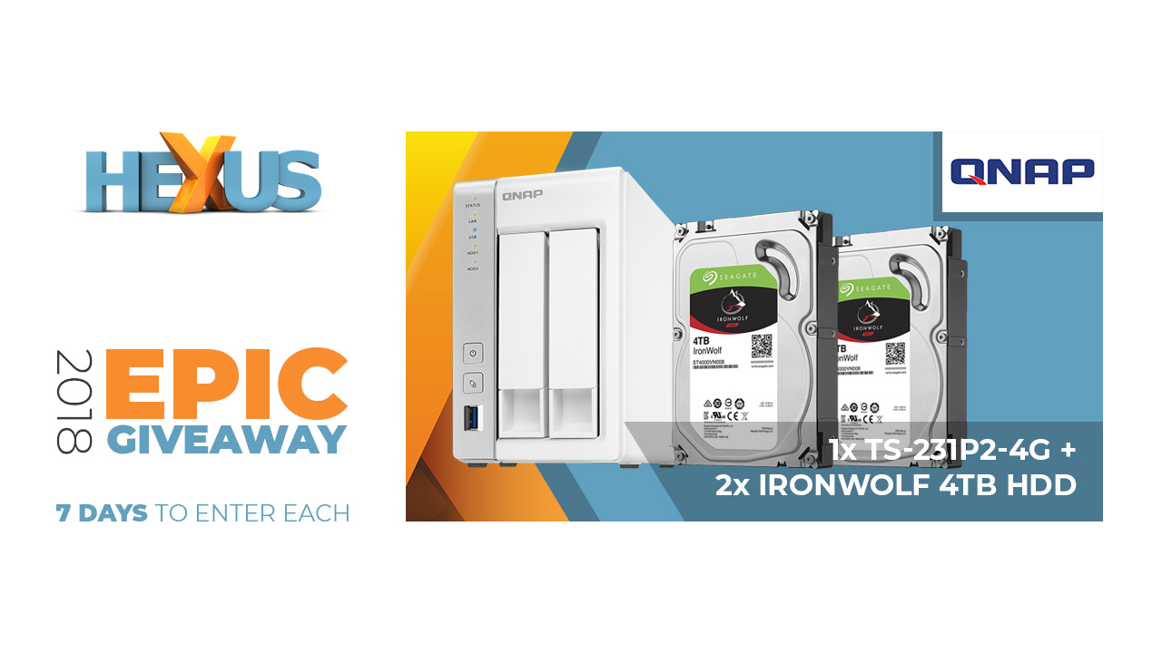 Конкурс HEXUS.net Epic Giveaway 2018 Day 30: Win a Qnap TS-231P2-4G NAS