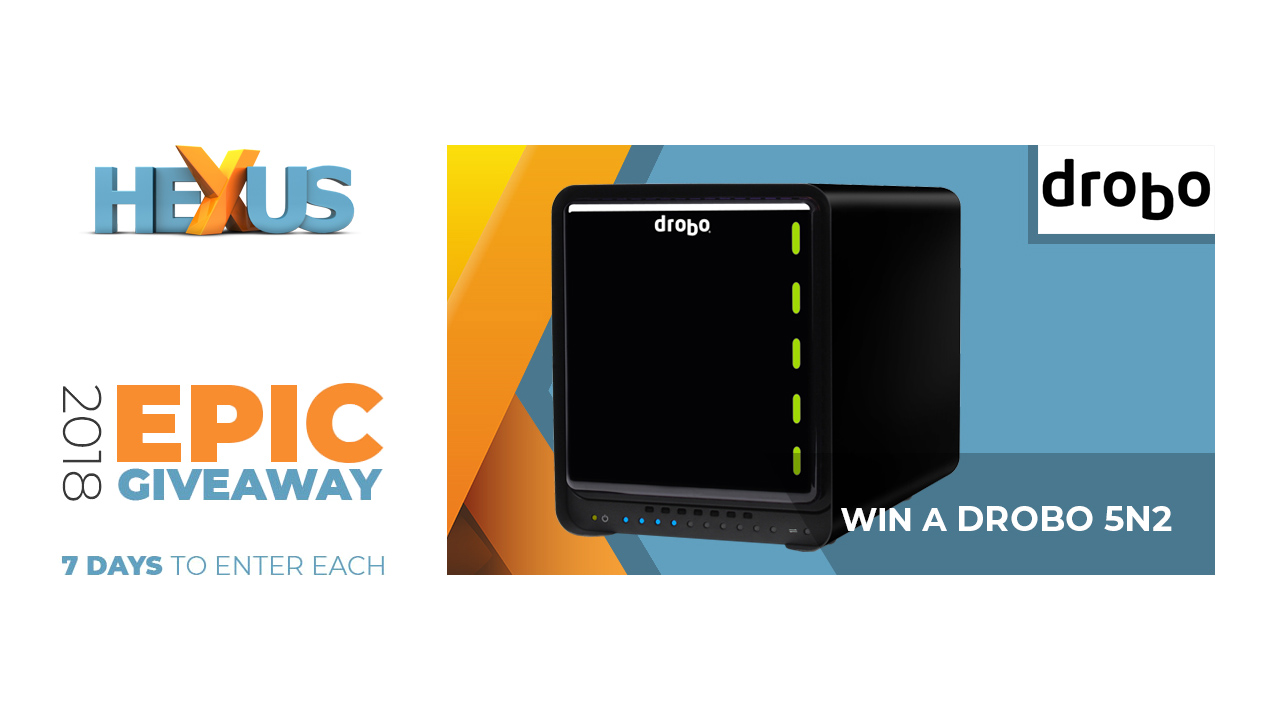 Конкурс HEXUS.net Epic Giveaway 2018 Day 5: Win a Drobo 5N2