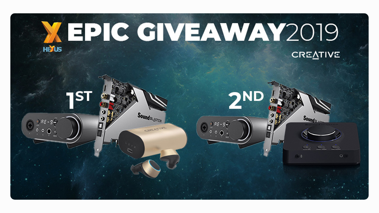 Конкурс HEXUS.net Epic Giveaway 2019 Day 2: Win Creative Sound Blaster goodies