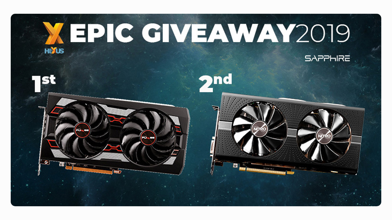 Конкурс HEXUS.net Epic Giveaway 2019 Day 21: Win a Sapphire Radeon graphics card