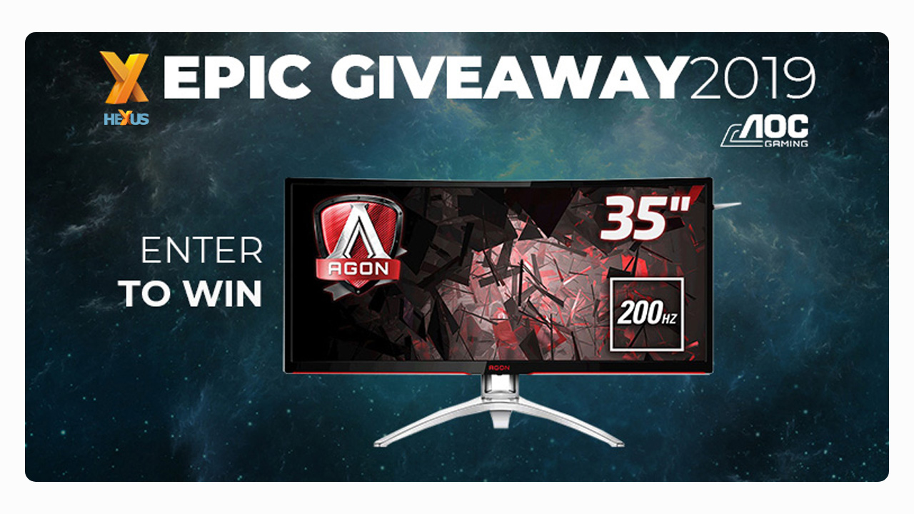 Конкурс HEXUS.net Epic Giveaway 2019 Day 22: Win an AOC AG352QCX gaming monitor