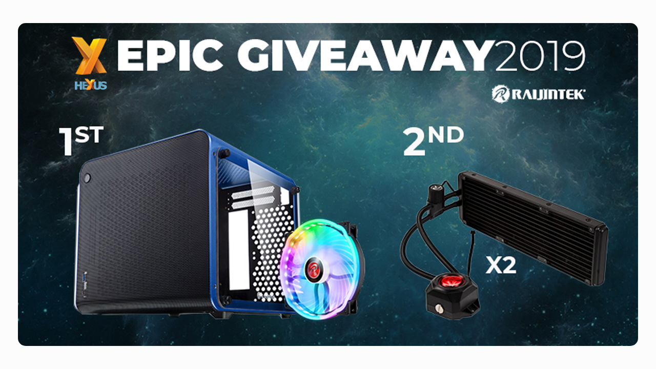Конкурс HEXUS.net Epic Giveaway 2019 Day 23: Win a Raijintek chassis or cooler