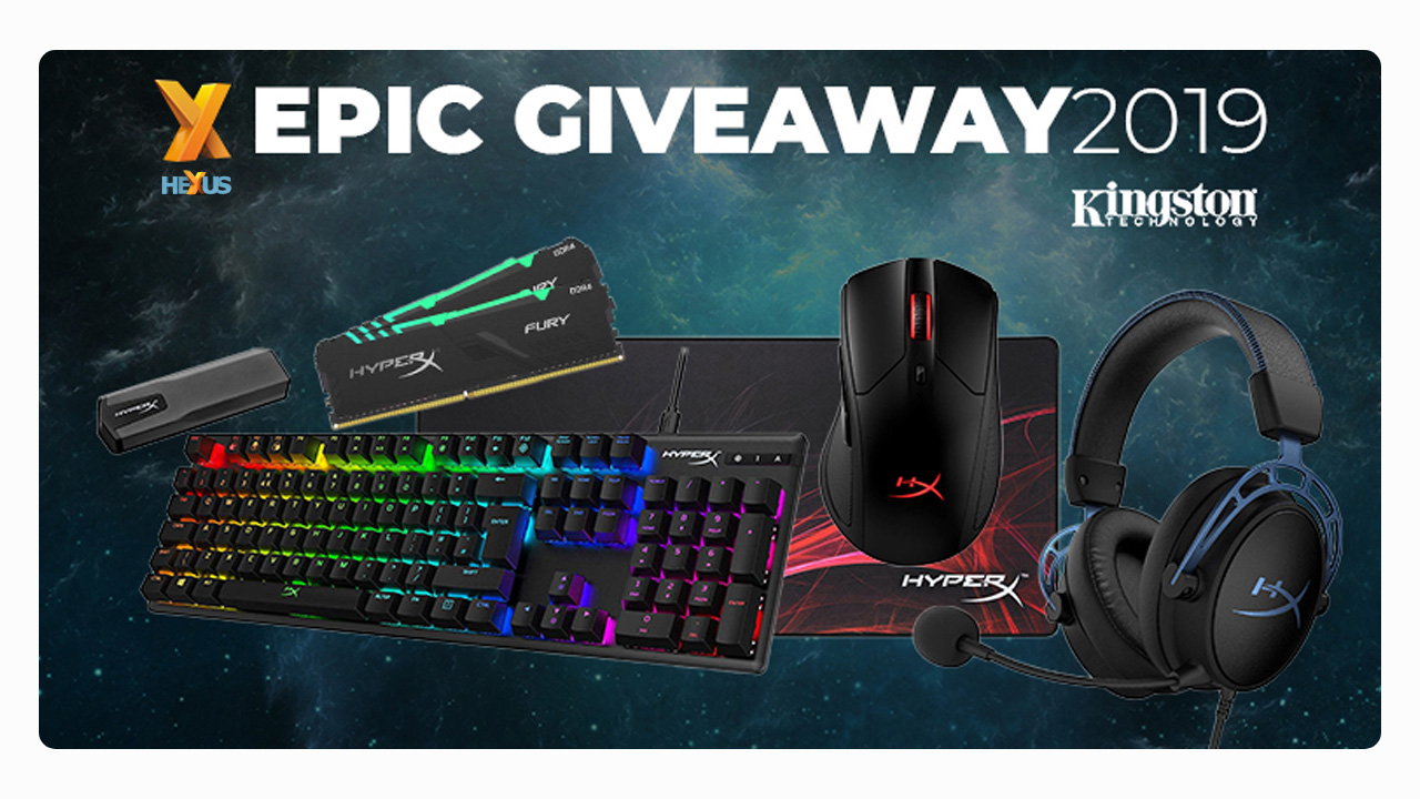Конкурс HEXUS.net Epic Giveaway 2019 Day 24: Win a Kingston HyperX gaming bundle