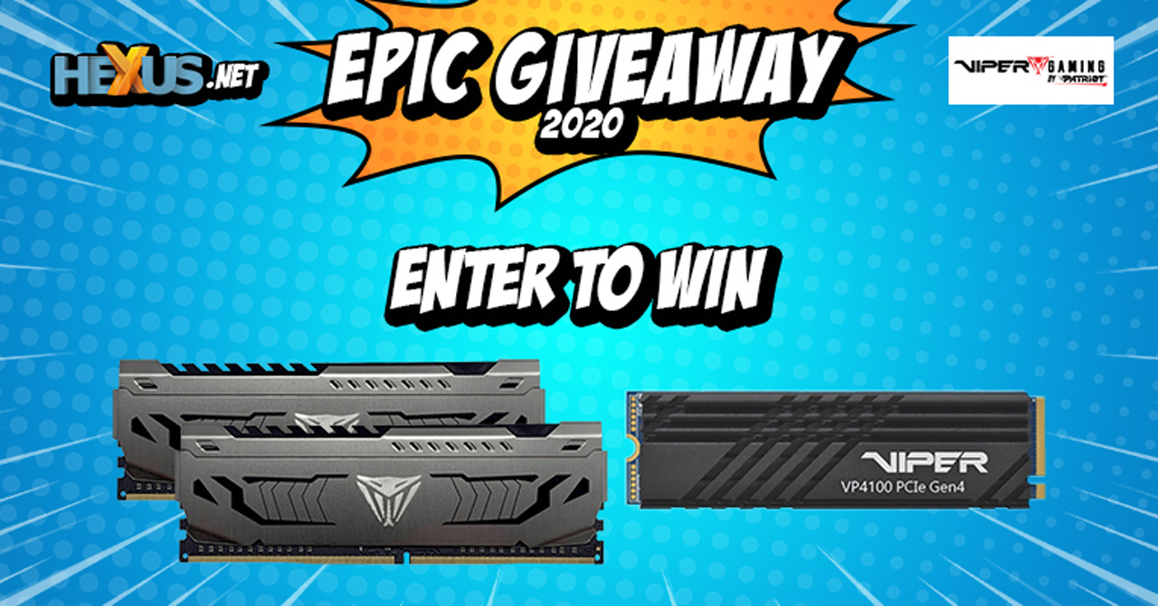 Конкурс HEXUS.net Epic Giveaway 2020 Day 26: Win a Patriot Viper SSD and RAM upgrade